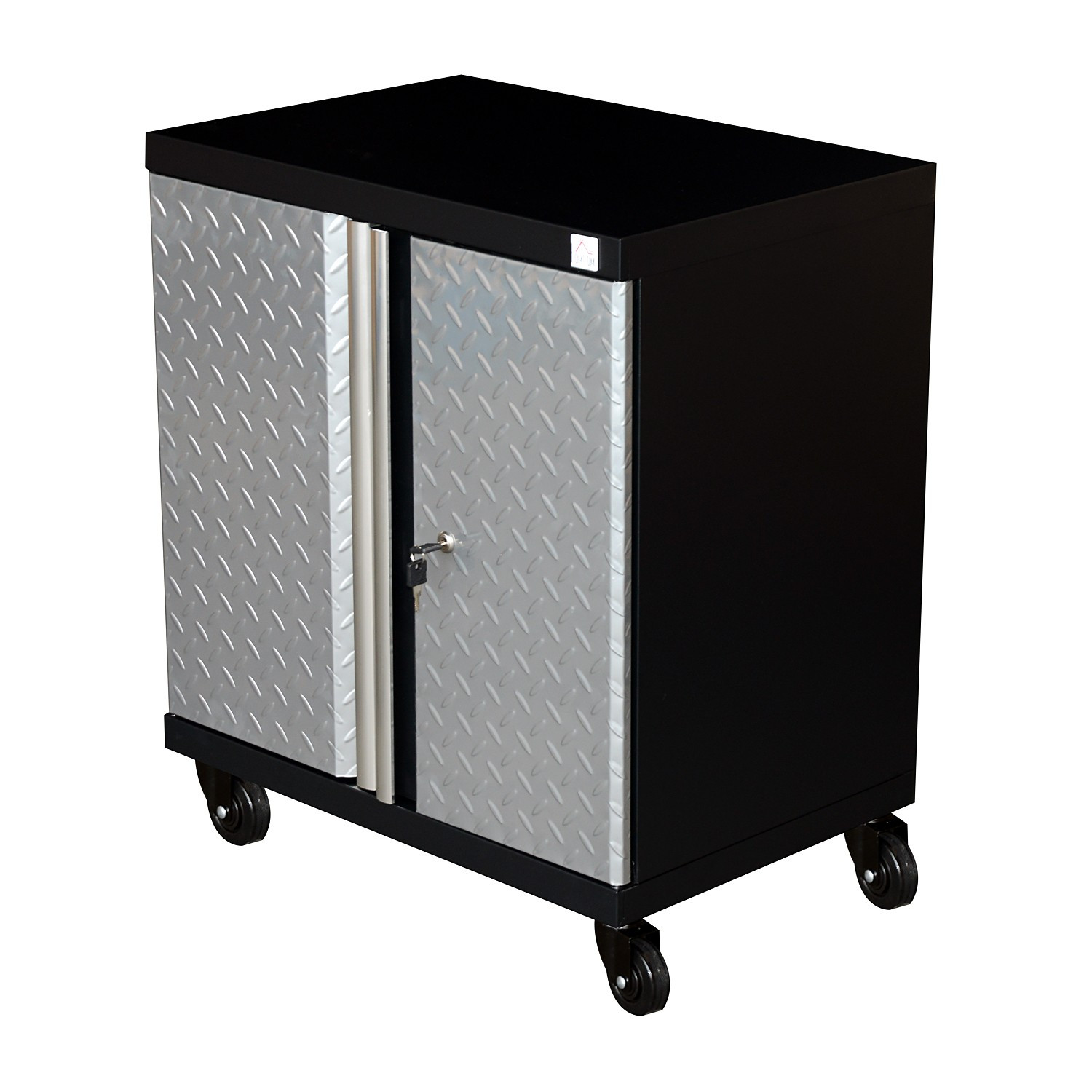 Best ideas about Rolling Storage Cabinet . Save or Pin Hom Metal Rolling Tool Storage Cabinet Silver Black Now.