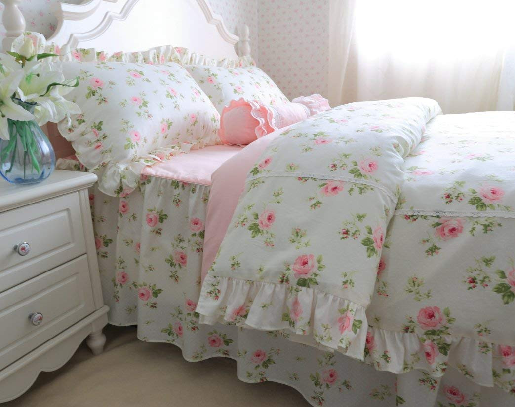 Best ideas about Roses Bedroom Set . Save or Pin Brandream Romantic Green Pink Rose Bedding Set Girls Kids Now.