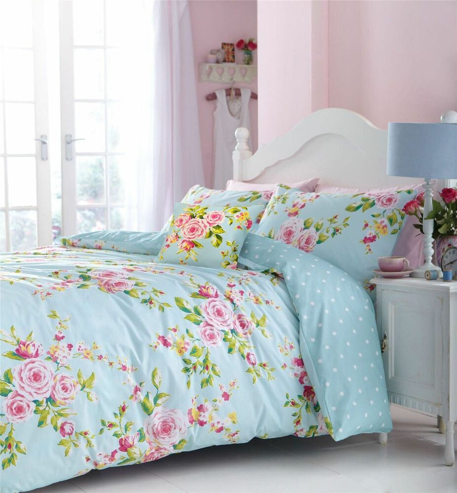 Best ideas about Roses Bedroom Set . Save or Pin PINK BLUE ROSE FLORAL PRINTED COTTON BLEND KING SIZE DUVET Now.