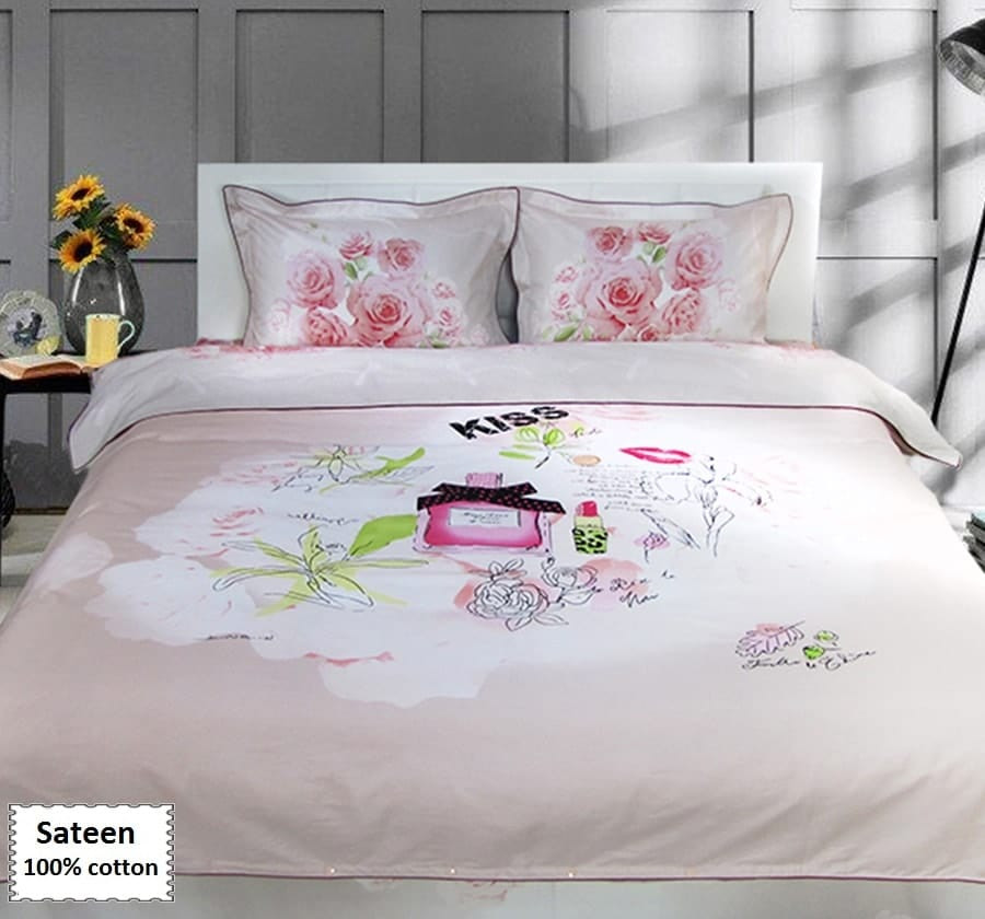 Best ideas about Roses Bedroom Set . Save or Pin Pink Rose Duvet Cover Set line 4 pcs Now.
