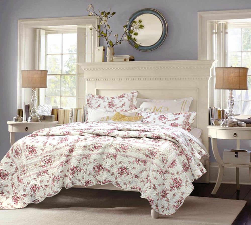 Best ideas about Roses Bedroom Set . Save or Pin Shabby Chic Vintage Cottage Pink Rose Floral 3 Pcs Cotton Now.