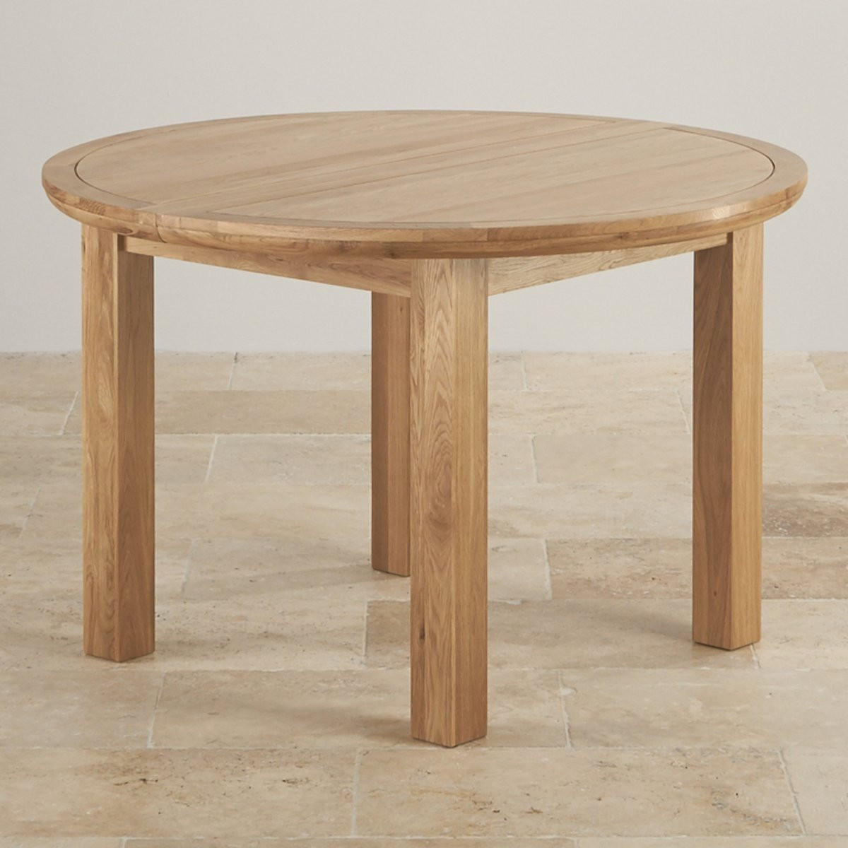 Best ideas about Round Extendable Dining Table . Save or Pin Knightsbridge 4ft Extending Round Dining Table in Natural Oak Now.