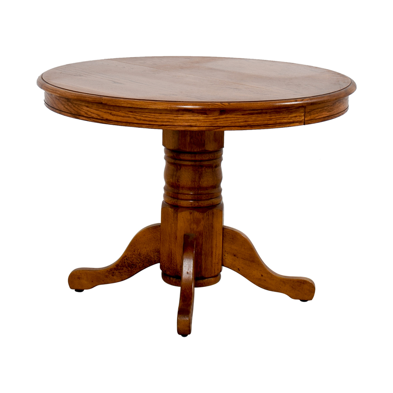 Best ideas about Round Extendable Dining Table . Save or Pin OFF Poundex Poundex Round Wood Extendable Dining Now.