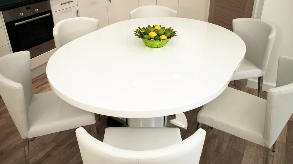 Best ideas about Round Extendable Dining Table . Save or Pin Round White Gloss Extending Dining Table Now.