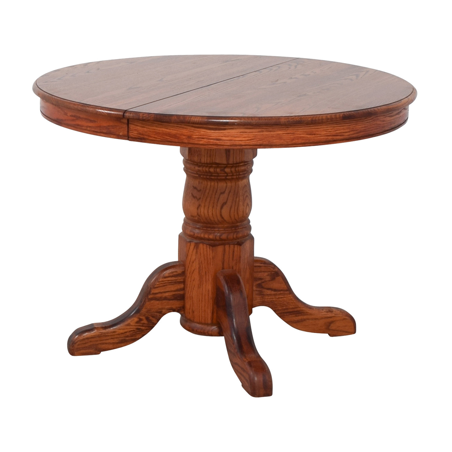 Best ideas about Round Extendable Dining Table . Save or Pin OFF Custom Extendable Oak Round Dining Table Tables Now.