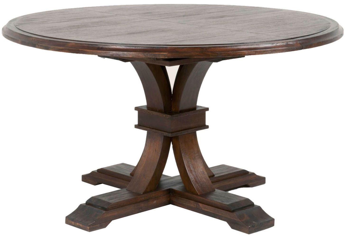 Best ideas about Round Extendable Dining Table . Save or Pin Traditions Rustic Java Devon Round Extendable Dining Table Now.