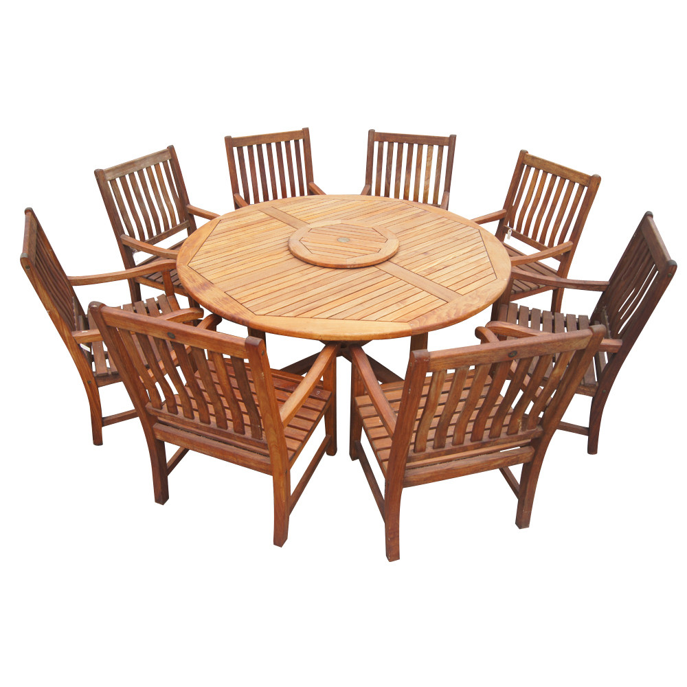 Best ideas about Round Patio Dining Table . Save or Pin 6ft Vintage Nauteak Round Outdoor Dining Table Now.