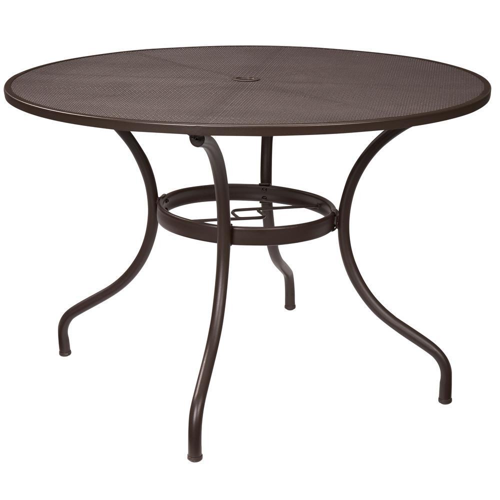 Best ideas about Round Patio Dining Table . Save or Pin Hampton Bay Mix and Match 42 in Round Mesh Outdoor Patio Now.