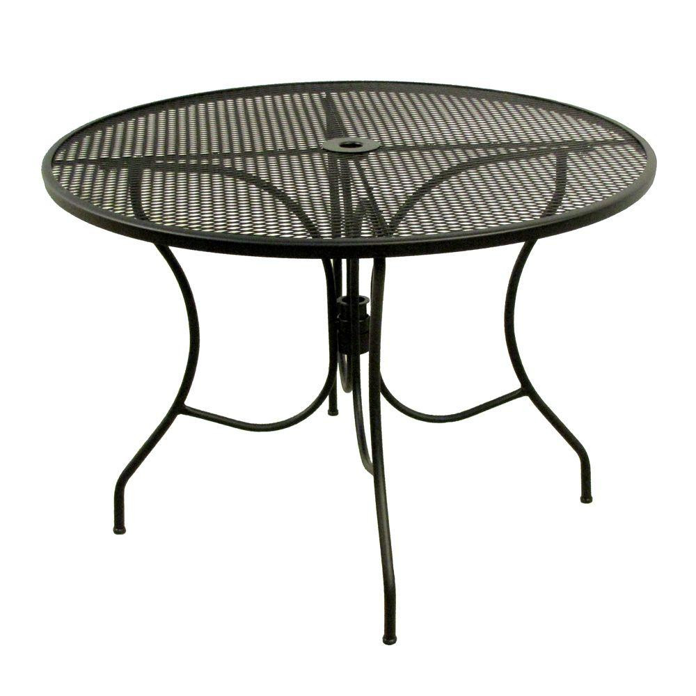 Best ideas about Round Patio Dining Table . Save or Pin Arlington House Glenbrook Black 42 in Round Mesh Patio Now.