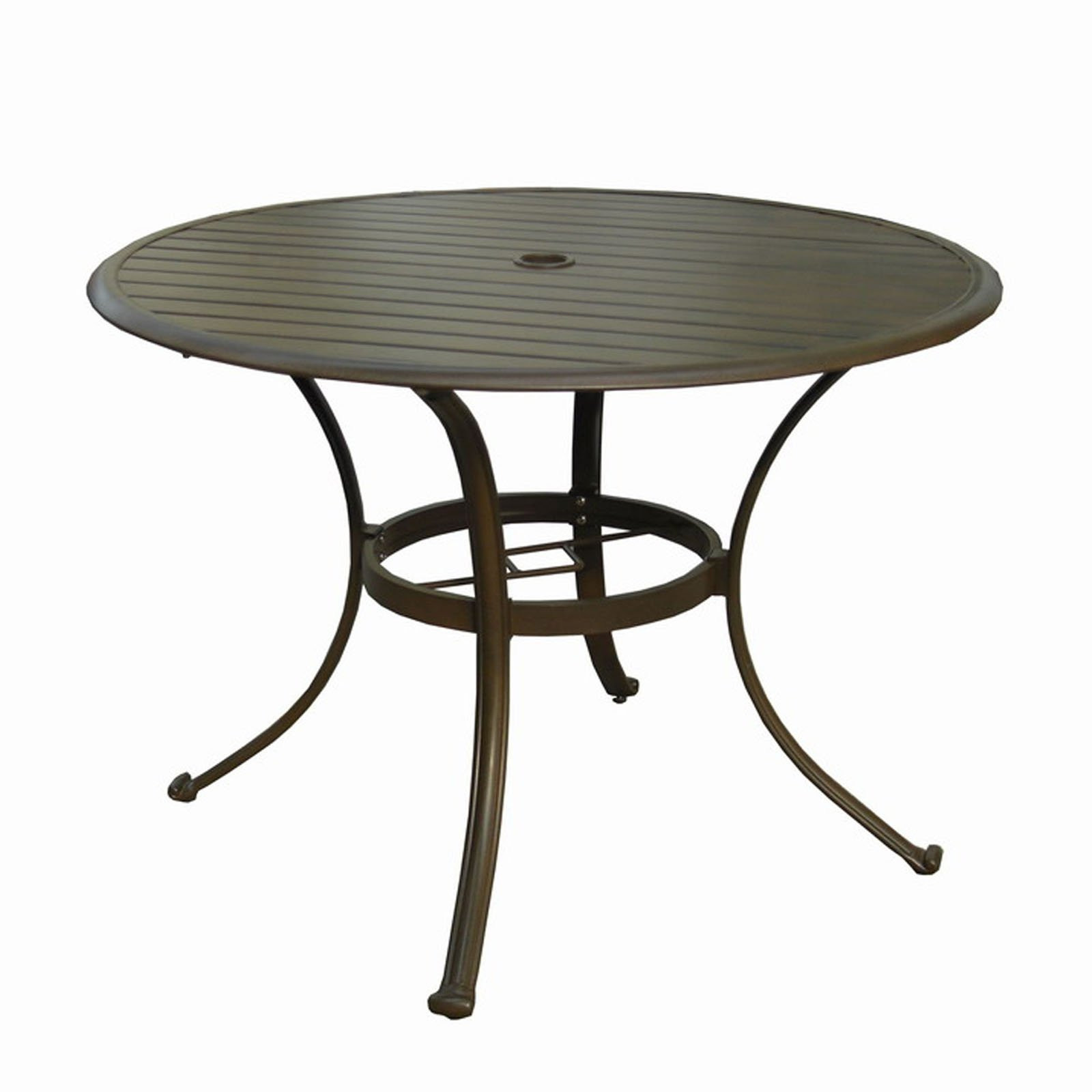 Best ideas about Round Patio Dining Table . Save or Pin Panama Jack Island Breeze Slatted Aluminum 42 in Round Now.