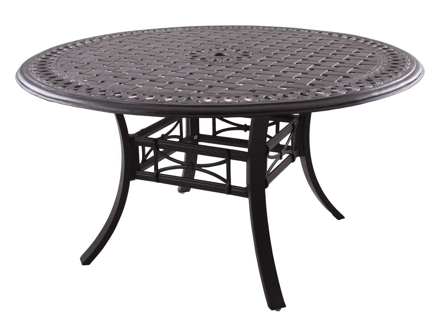 Best ideas about Round Patio Dining Table . Save or Pin Darlee Outdoor Living Series 88 Cast Aluminum Antique Now.