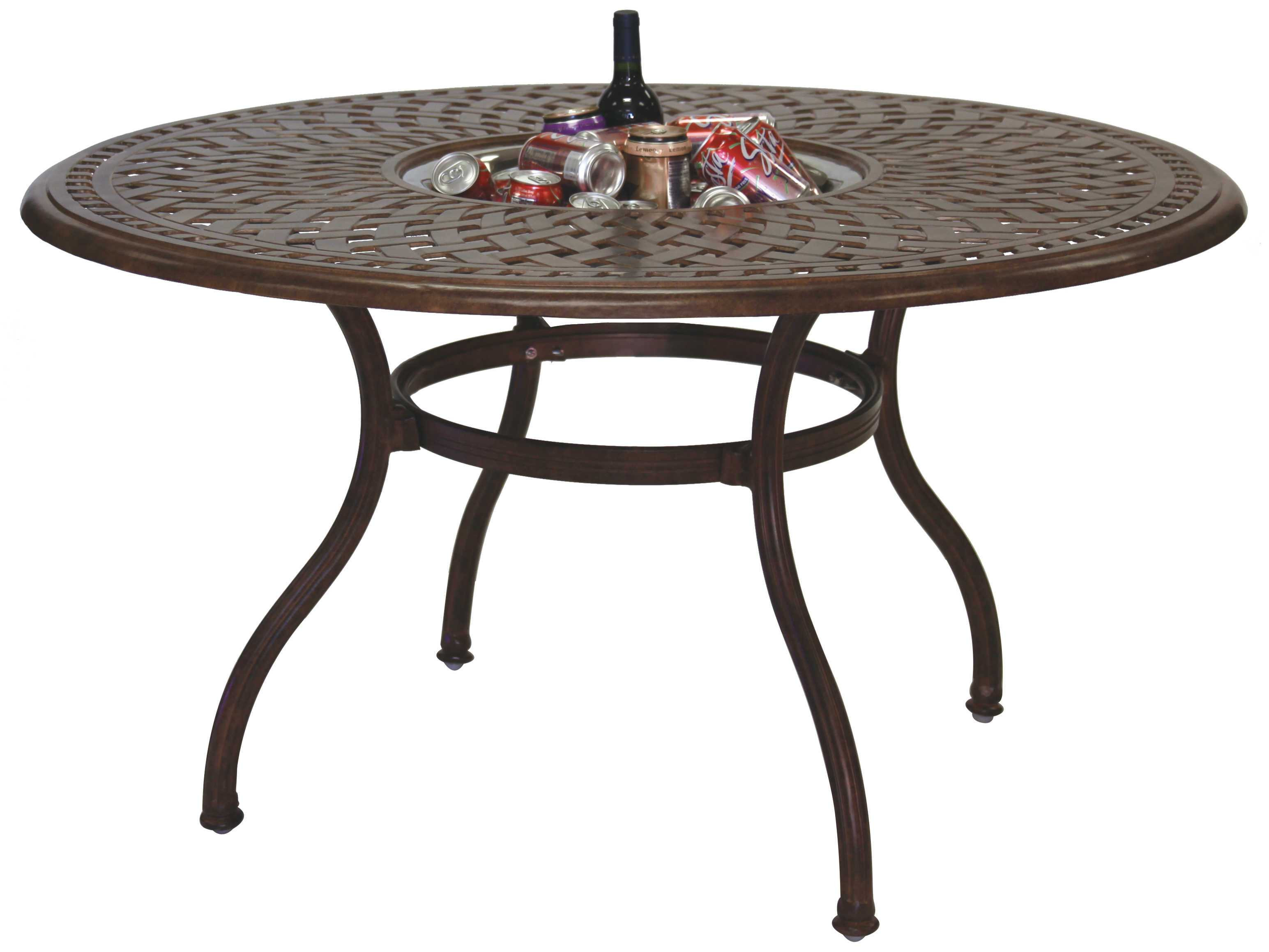 Best ideas about Round Patio Dining Table . Save or Pin Darlee Outdoor Living Series 60 Cast Aluminum 52 Round Now.