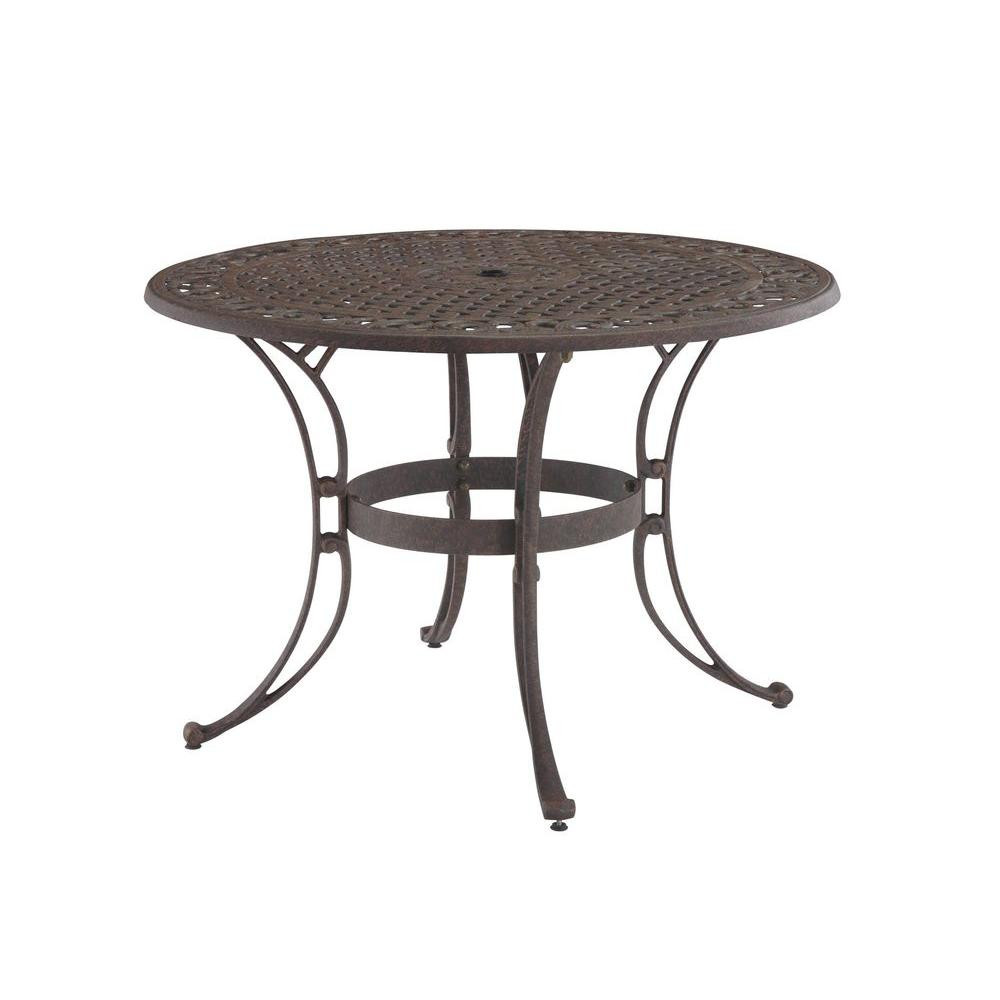Best ideas about Round Patio Dining Table . Save or Pin Home Styles Biscayne 48 in Bronze Round Patio Dining Now.