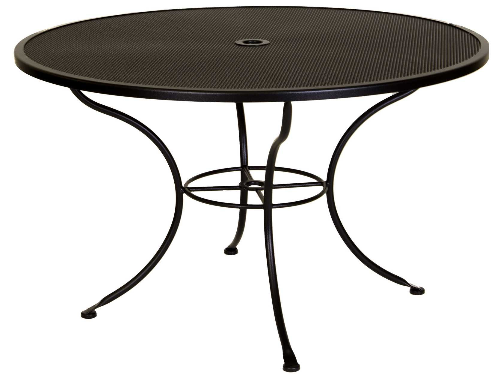 Best ideas about Round Patio Table . Save or Pin OW Lee Mesh Wrought Iron 48 Round Dining Table with Now.