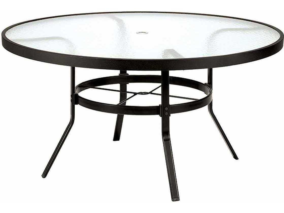 Best ideas about Round Patio Table . Save or Pin Winston Obscure Glass Aluminum 48 Round Dining Table Now.