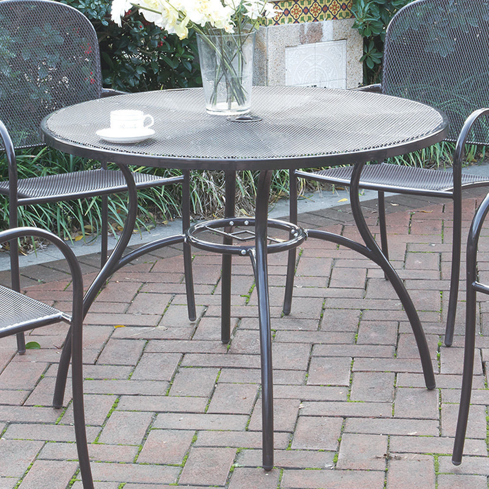 Best ideas about Round Patio Table . Save or Pin Casual Outdoor Patio Garden Yard Round Dining Table Mesh Now.