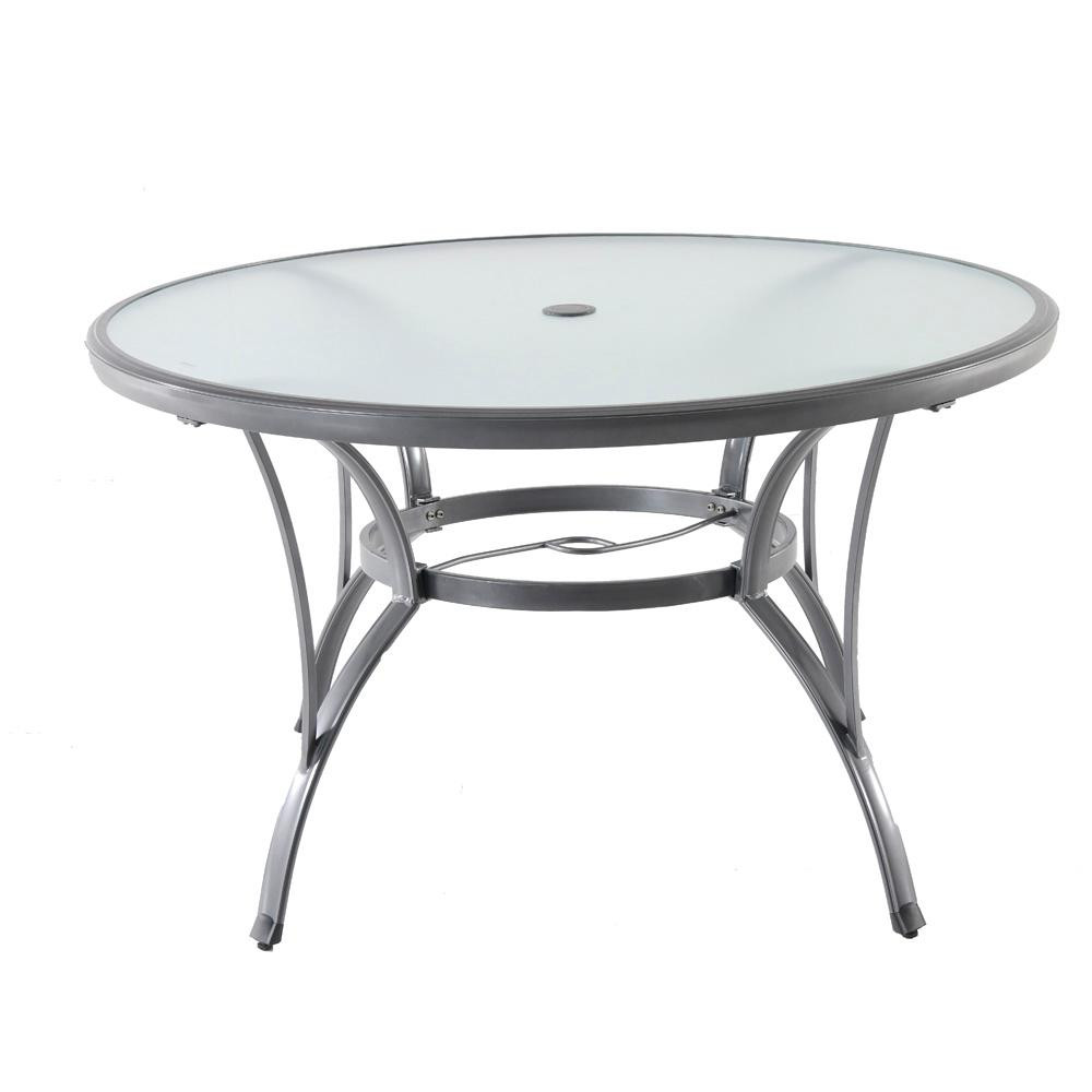 Best ideas about Round Patio Table . Save or Pin Outdoor Dining Table Poolside Patio Garden Furniture Glass Now.