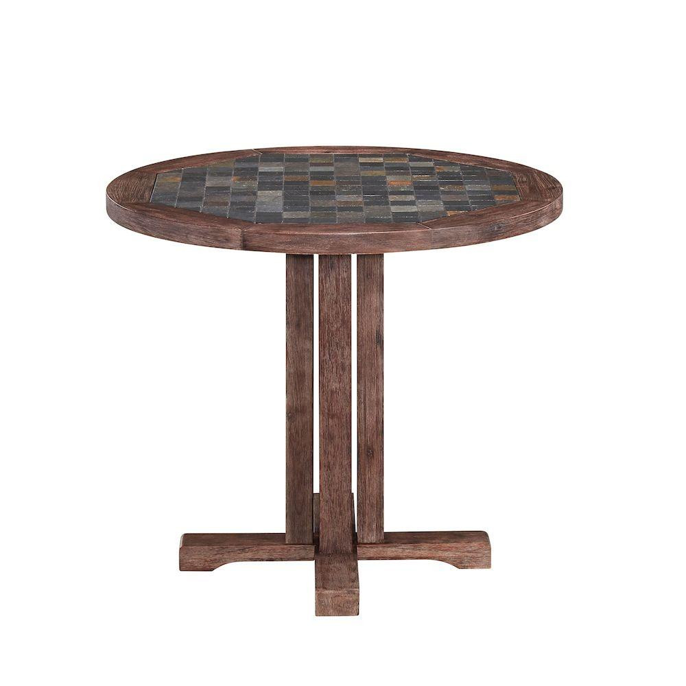 Best ideas about Round Patio Table . Save or Pin Hampton Bay 59 in Old Town Round Teak Patio Dining Table Now.