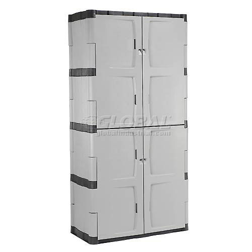 Best ideas about Rubbermaid Storage Cabinets . Save or Pin Rubbermaid 7083 Plastic Storage Cabinet Full Double Door Now.