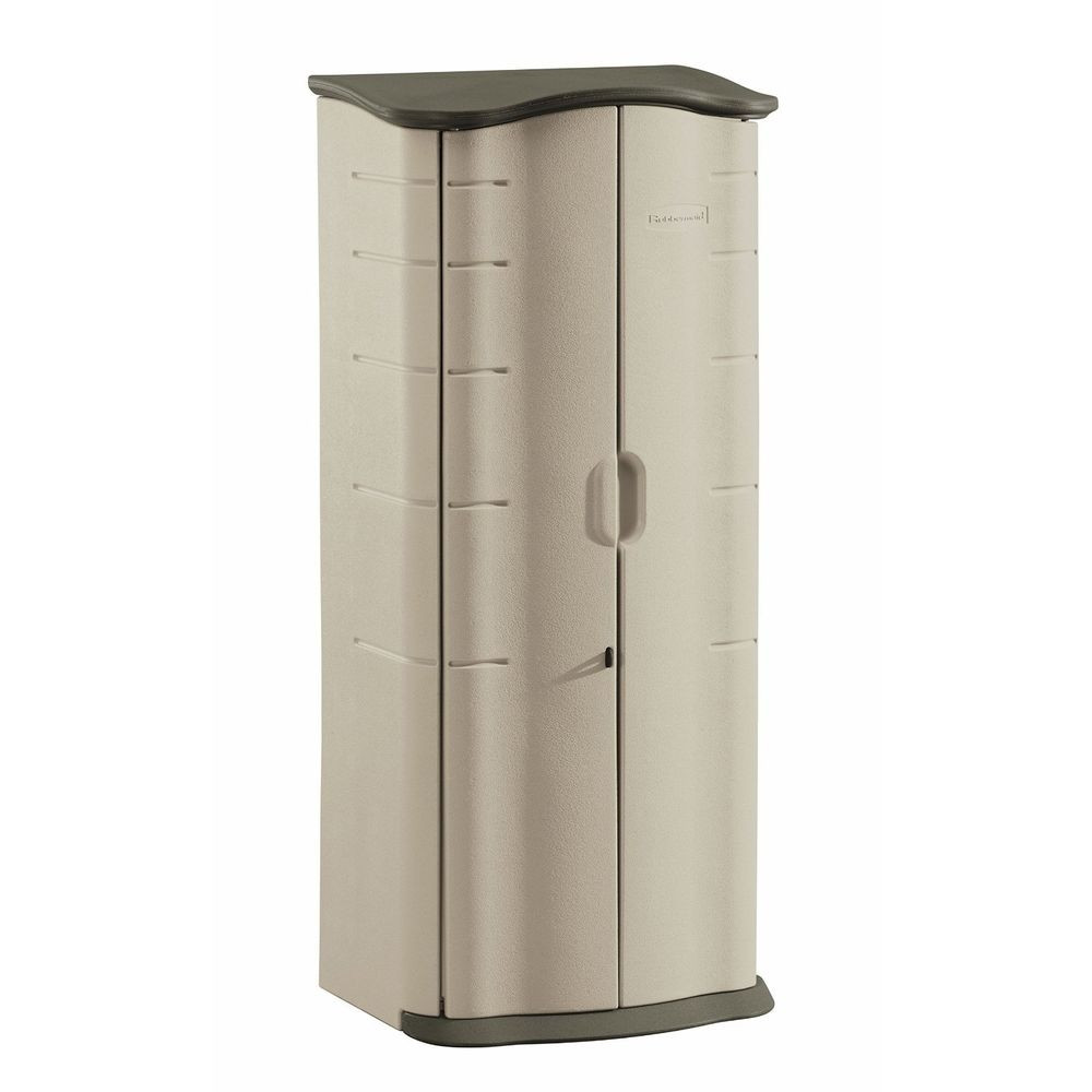 Best ideas about Rubbermaid Storage Cabinets . Save or Pin Rubbermaid Plastic Outdoor Storage Shed 17CF Patio Pool Now.