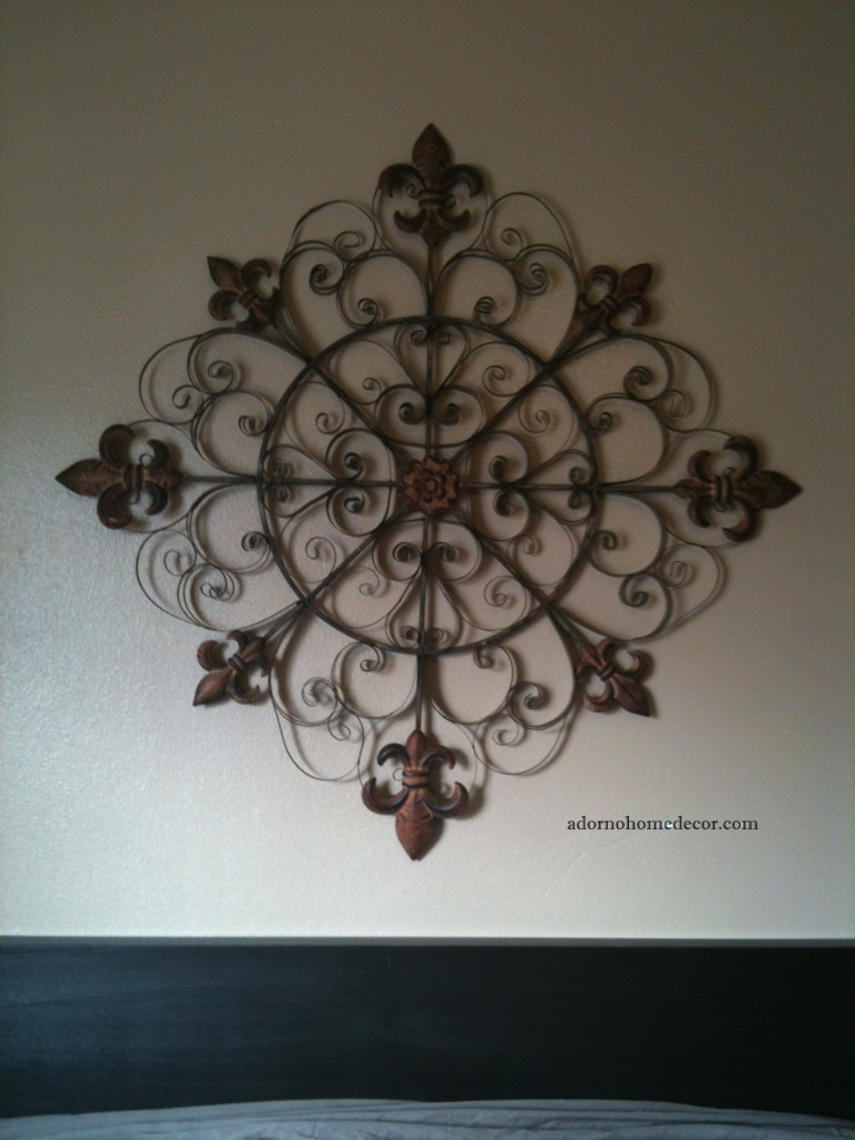 Best ideas about Rustic Metal Wall Art . Save or Pin Unique Fleur De Lis Round Metal Wall Rustic Scroll Now.