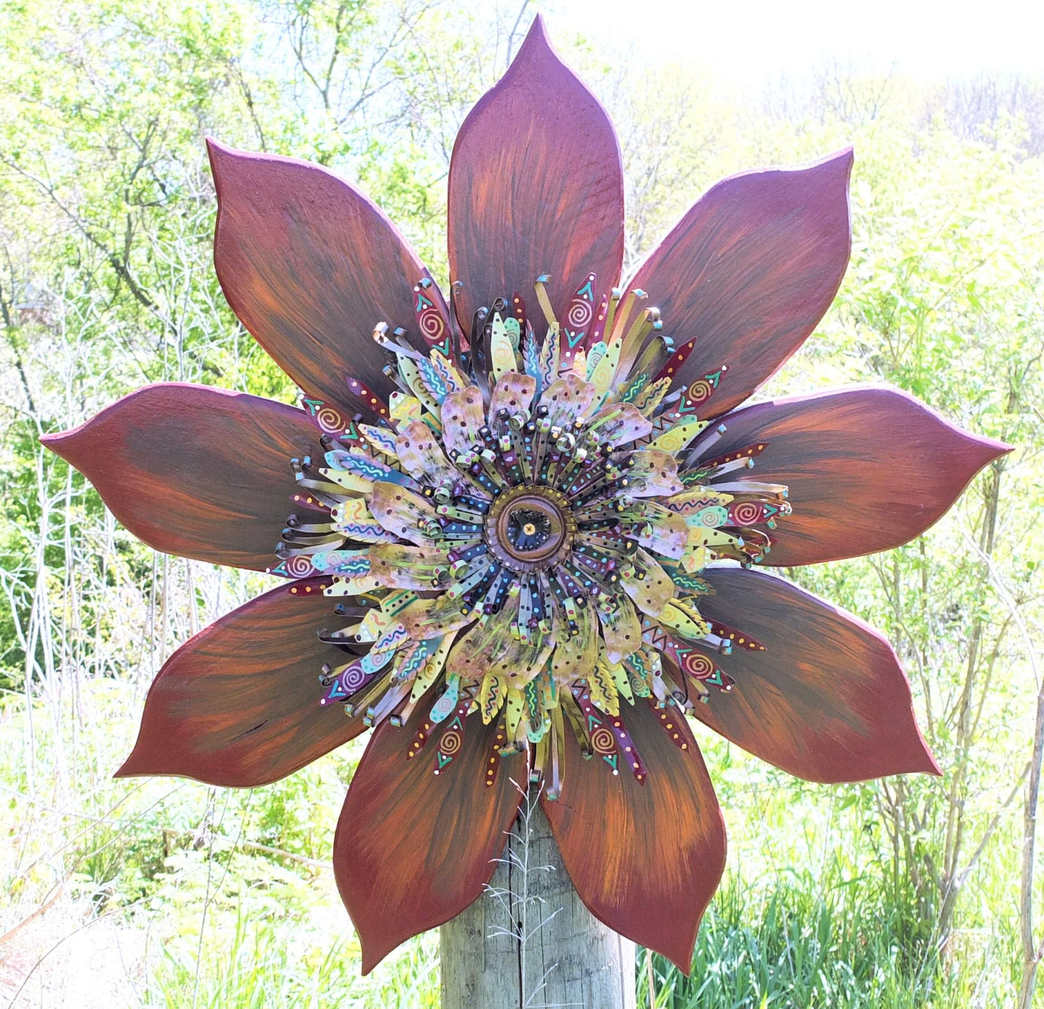 Best ideas about Rustic Metal Wall Art . Save or Pin Bohemian Decor Farmhouse Decor Rustic Wall Decor Metal Wall Now.