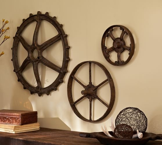 Best ideas about Rustic Metal Wall Art . Save or Pin Rustic Gears Set Now.