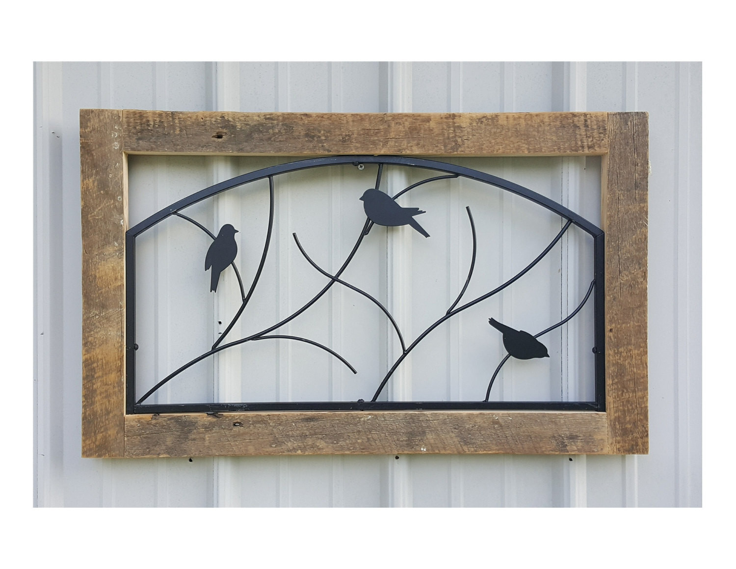 Best ideas about Rustic Metal Wall Art . Save or Pin Rustic Wall Hanging Reclaimed Barnwood & Metal Wall Decor Now.