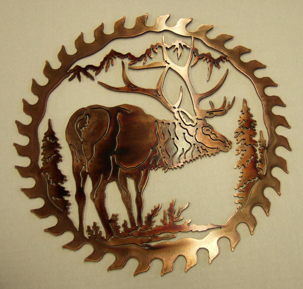 Best ideas about Rustic Metal Wall Art . Save or Pin ELK METAL ART WALL SAW BLADE WILDLIFE RUSTIC LODGE Now.