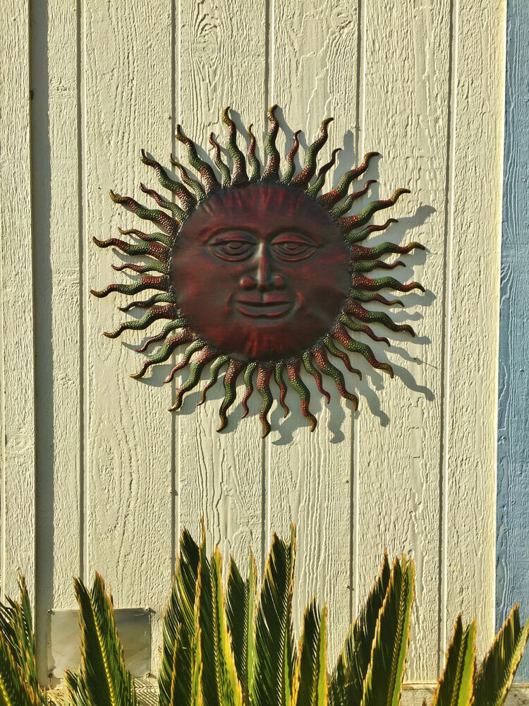 Best ideas about Rustic Metal Wall Art . Save or Pin Metal Sun Wall Decor Rustic Garden Art Indoor Outdoor Now.