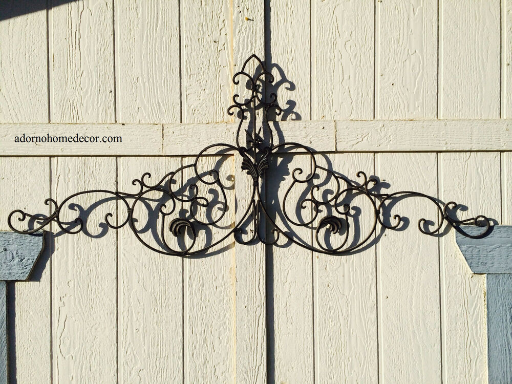 Best ideas about Rustic Metal Wall Art . Save or Pin Tuscan Wrought Iron Metal Wall Decor Rustic Antique Now.
