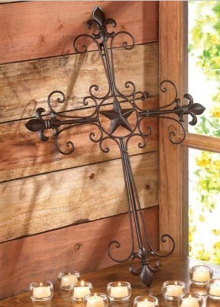 Best ideas about Rustic Metal Wall Art . Save or Pin NEW RUSTIC TEXAS LONE STAR FLEUR DE LIS METAL WALL CROSS Now.