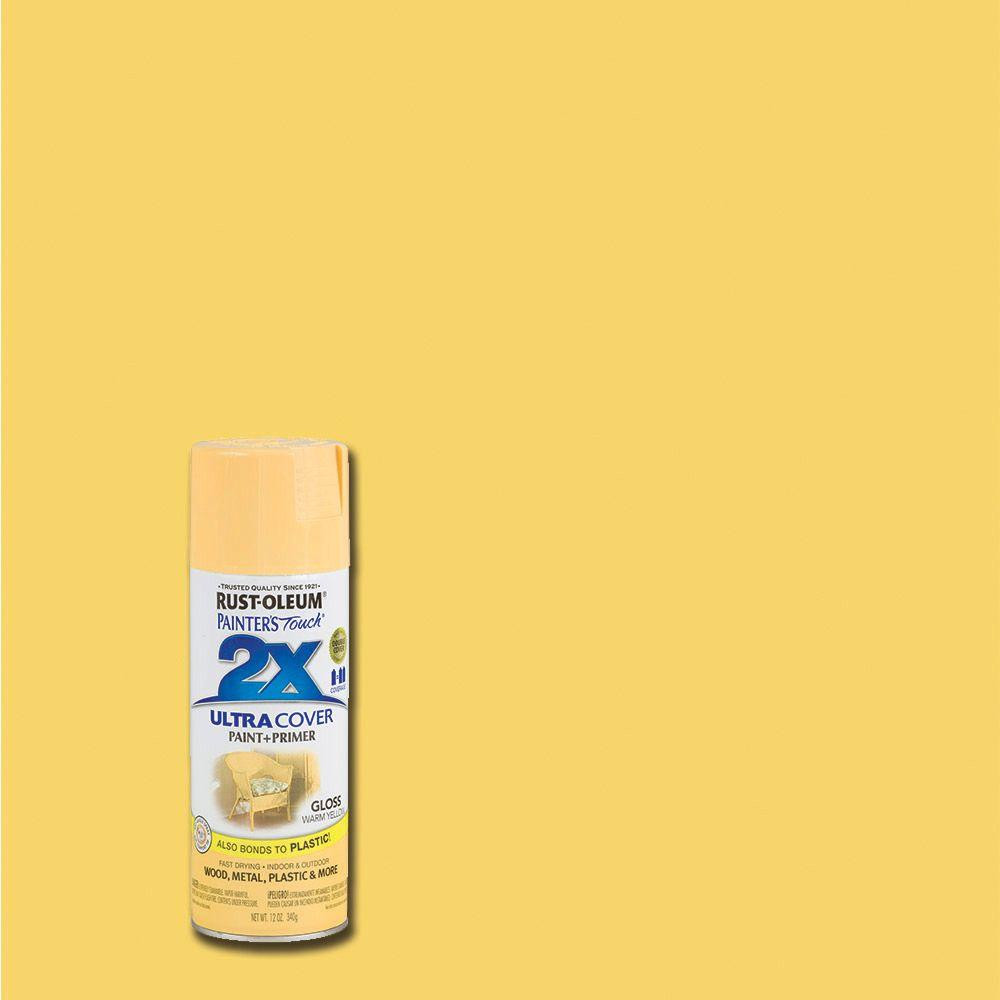Best ideas about Rustoleum 2X Spray Paint Colors . Save or Pin Rust Oleum Painter s Touch 2X 12 oz Gloss Warm Yellow Now.