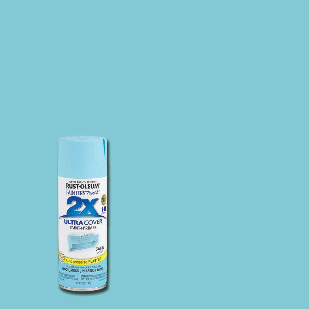 Best ideas about Rustoleum 2X Spray Paint Colors . Save or Pin Rust Oleum Painter s Touch 2X 12 oz Satin Aqua General Now.
