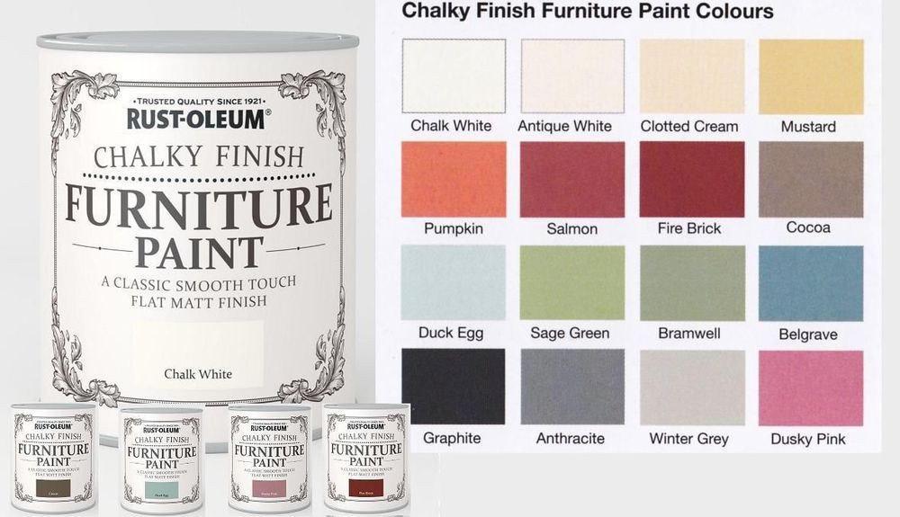 Best ideas about Rustoleum Chalk Paint Colors . Save or Pin Rust Oleum Chalk Chalky Furniture Paint 750ml 125ml Chic Now.