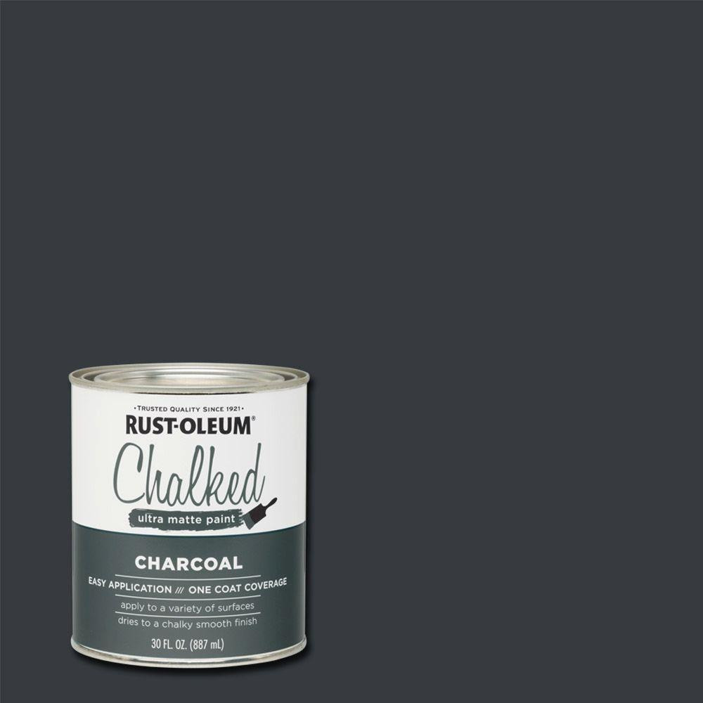 Best ideas about Rustoleum Chalked Paint Colors . Save or Pin Rust Oleum 30 oz Chalked Charcoal Ultra Matte Interior Now.