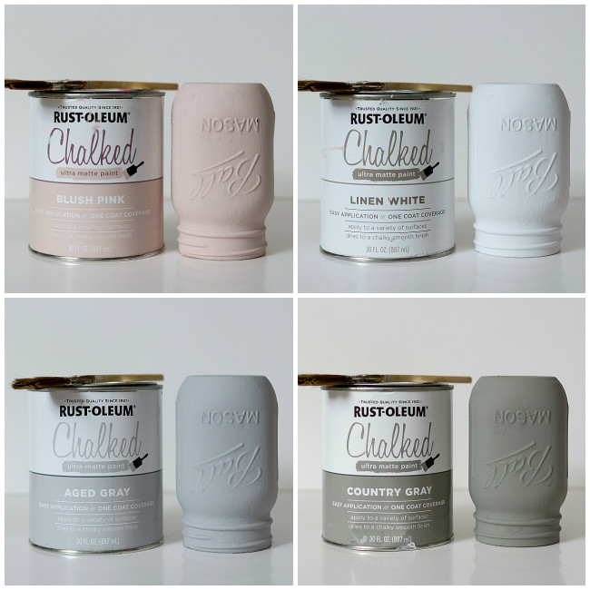 Best ideas about Rustoleum Chalked Paint Colors . Save or Pin How To Paint and Distress Mason Jars Now.