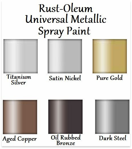 Best ideas about Rustoleum Spray Paint Colors . Save or Pin Rust Oleum Universal Metallic spray paint color chart Now.