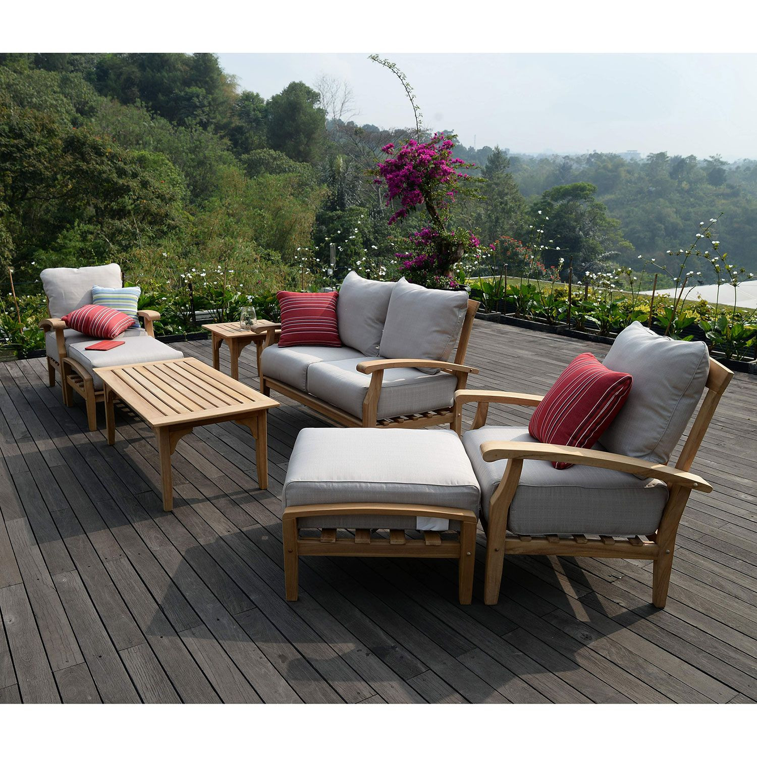 Best ideas about Sams Patio Furniture . Save or Pin Joshua Lane Teak Outdoor 7 Pc Patio Seating Set IT T Now.