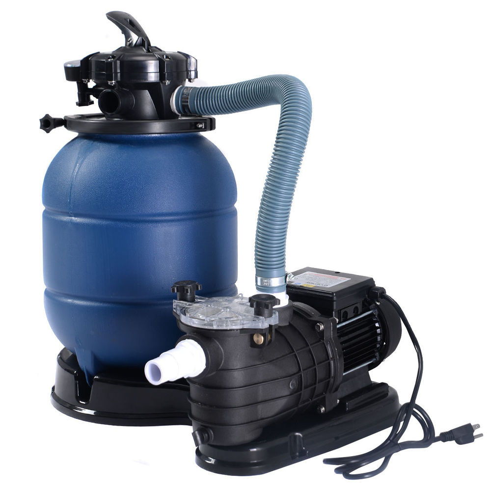 """Best ideas about Sand Filter For Above Ground Pool . Save or Pin New Pro 2450GPH 13"""" Sand Filter Ground GAL Now."""