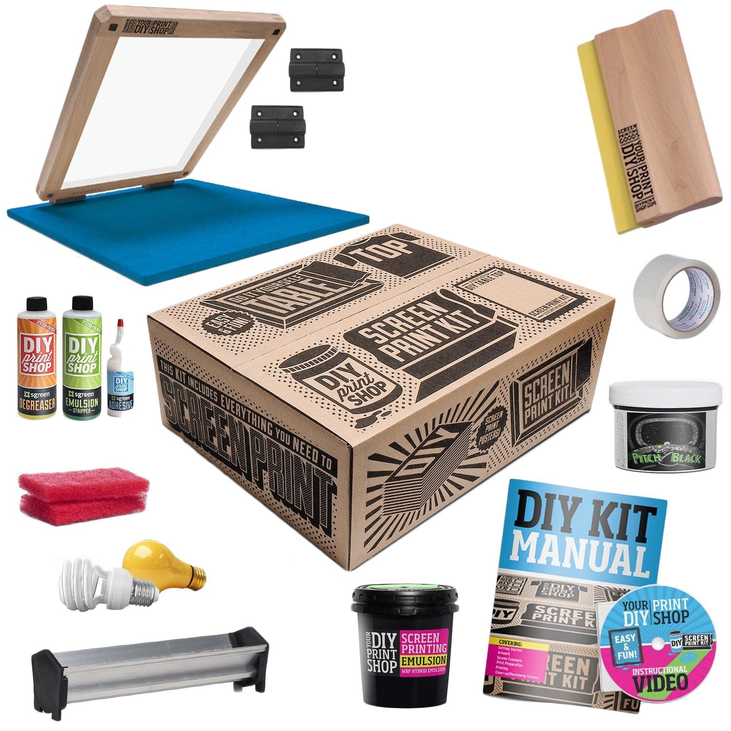 Best ideas about Screen Printing Kit DIY . Save or Pin DIY T Shirt Screen Printing Kit Now.