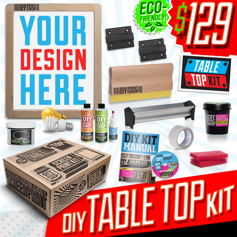 Best ideas about Screen Printing Kit DIY . Save or Pin DIY PRINT SHOP Classic Table Top Screen Printing Kit Now.