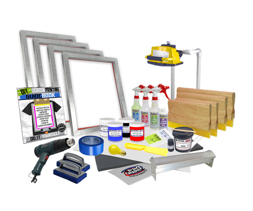 Best ideas about Screen Printing Kit DIY . Save or Pin DIY 4 Color Supply Kit Screen Printing Starter Beginner Now.