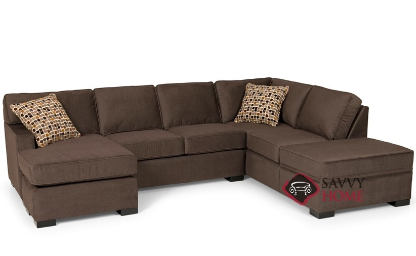 Best ideas about Sectional Sleeper Sofa Queen . Save or Pin 146 Fabric Sleeper Sofas Chaise Sectional by Stanton is Now.
