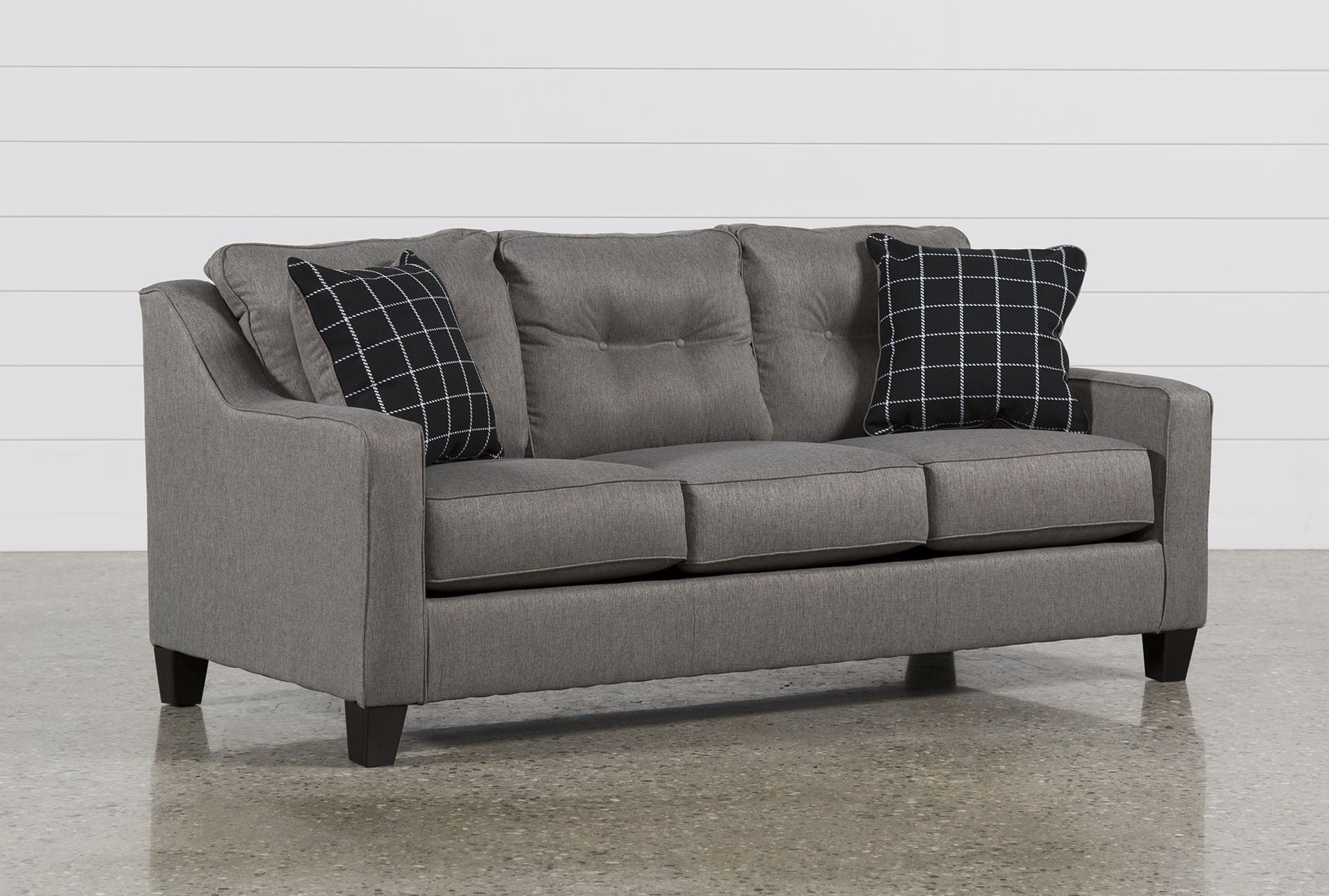 Best ideas about Sectional Sleeper Sofa Queen . Save or Pin Brindon Charcoal Queen Sofa Sleeper Living Spaces Now.