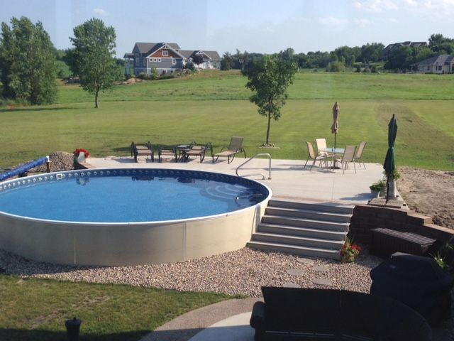 Best ideas about Semi Inground Pool With Deck . Save or Pin 17 Best ideas about Semi Inground Pools on Pinterest Now.