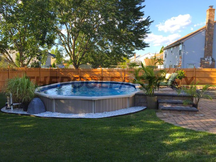 Best ideas about Semi Inground Pool With Deck . Save or Pin 977 best Pools images on Pinterest Now.