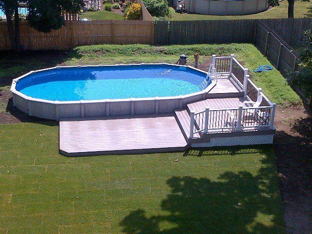 Best ideas about Semi Inground Pool With Deck . Save or Pin 32 best images about Brothers 3 Pools ground semi Now.