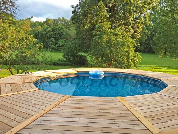 Best ideas about Semi Inground Pool With Deck . Save or Pin 17 Best images about Semi Inground Pools on Pinterest Now.