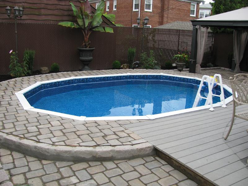 Best ideas about Semi Inground Pool With Deck . Save or Pin Pool & Backyard Intriguing Semi Inground Pools With Payer Now.
